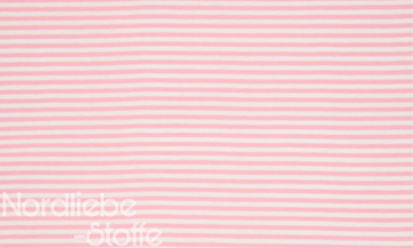 Ringel Bündchen ~ Rosa Weiß 3mm