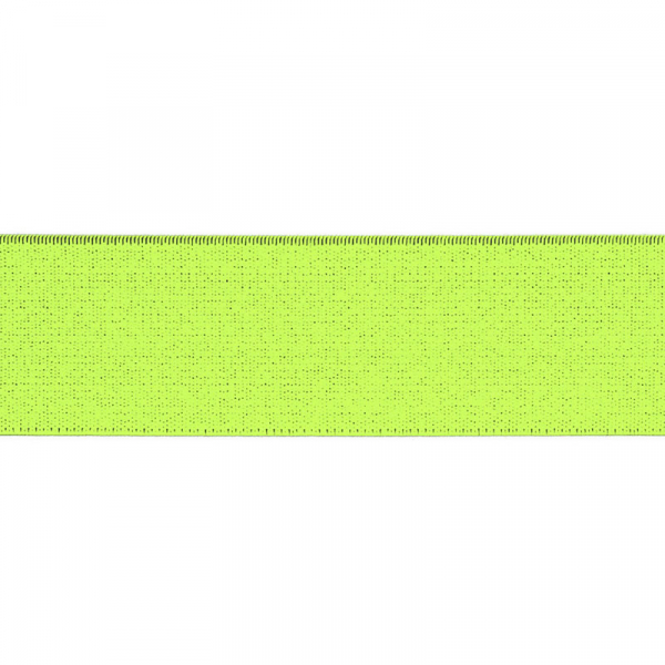 Gummiband elastisch 40 mm ~ UNI Neon Gelb