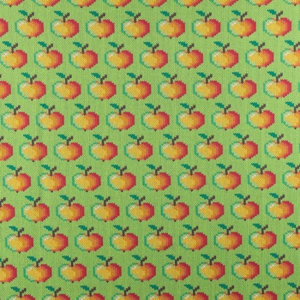 Jersey ~ Äpfel Strickoptik Grün