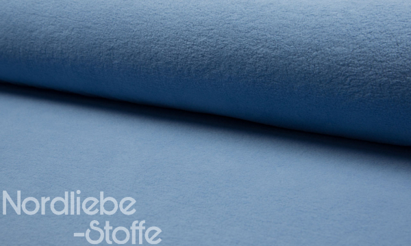 Baumwoll Fleece ~ Blau