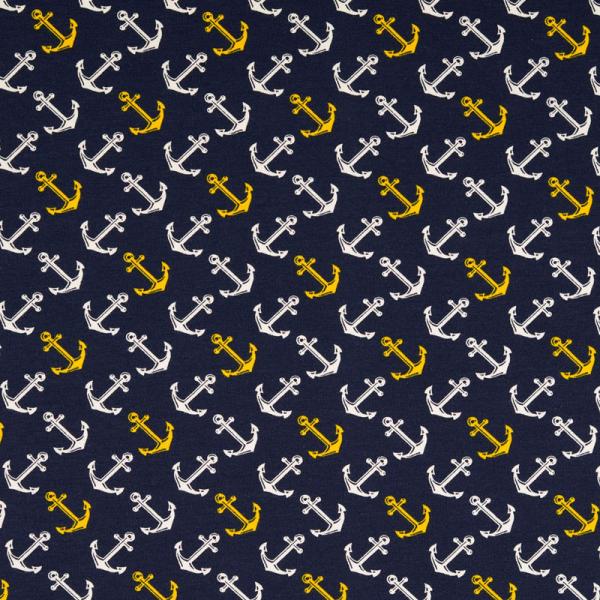 Jersey ~ Anker Weiß und Gelb auf Navy