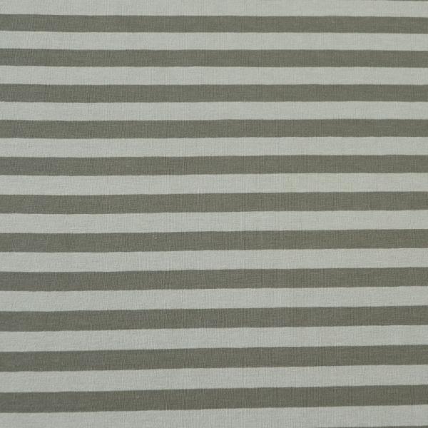Jersey ~ breite Streifen Grau Hellgrau