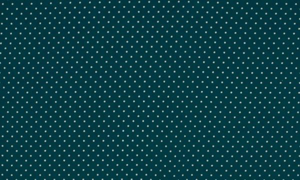 Baumwolle ~ kleine Punkte Petrol Weiß