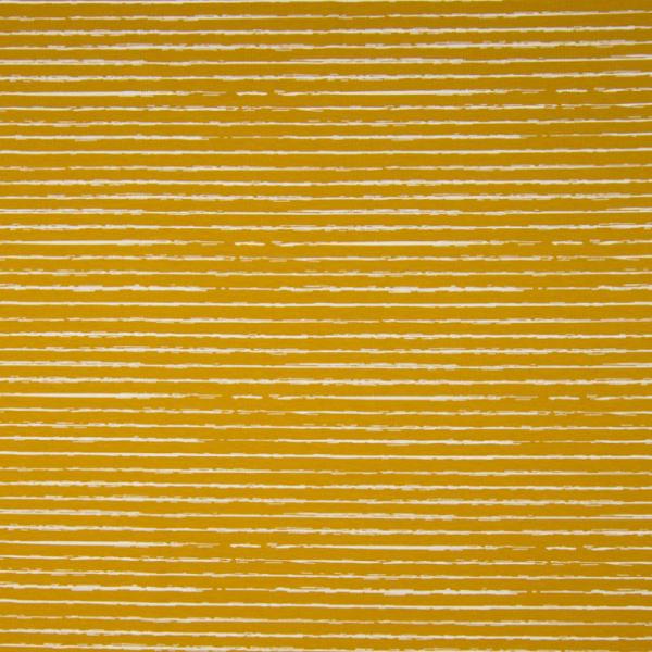 Jersey ~ Streifen Ocker Weiß
