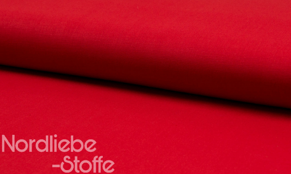 Baumwolle ~ UNI Rot