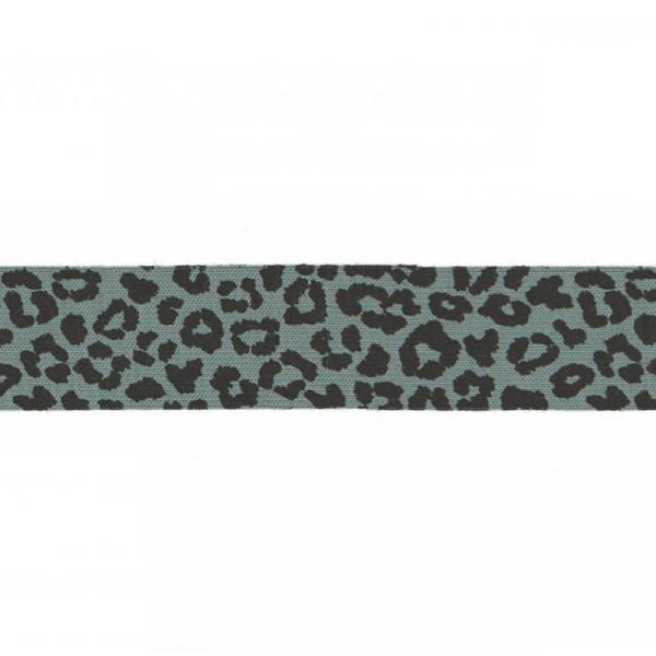 3 Meter Jersey Schrägband 20 mm Leopard Khaki Hell