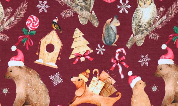 Digital Jersey ~ Weihnachts Tiere