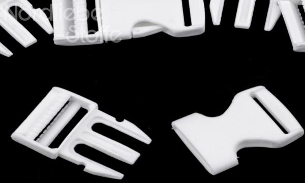 Steckschnalle weiß 25mm