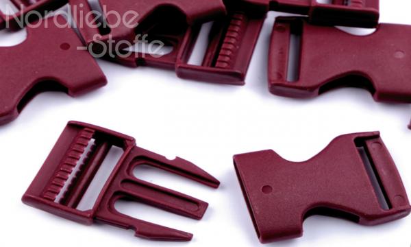 Steckschnalle bordeaux 25mm