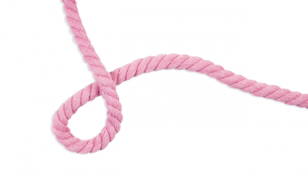 Gedrehte Kordel - Ø 10 mm UNI Hell Pink