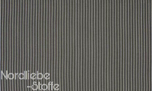 Baumwolle ~ zarte Streifen schwarz weiß