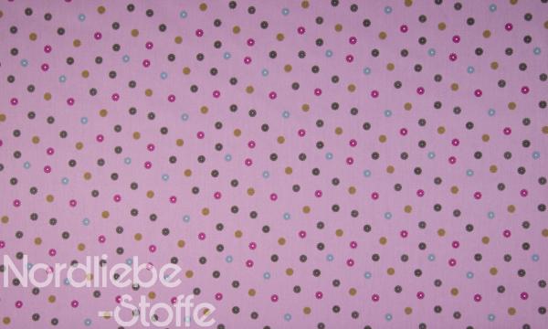 Baumwolle ~ Bunte Blüten flieder