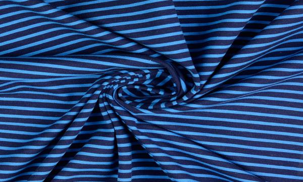Jersey ~ Streifen auf Blau
