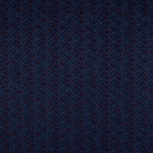 Baumwolle ~ Wellen Navy