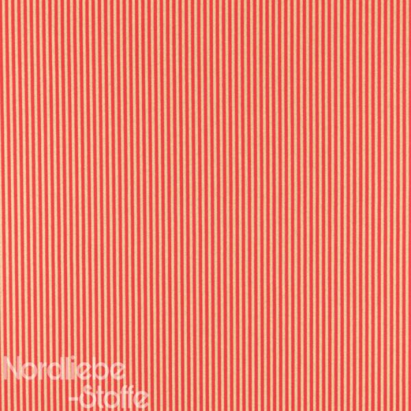 Dekostoff ~ Gold Streifen auf Rot