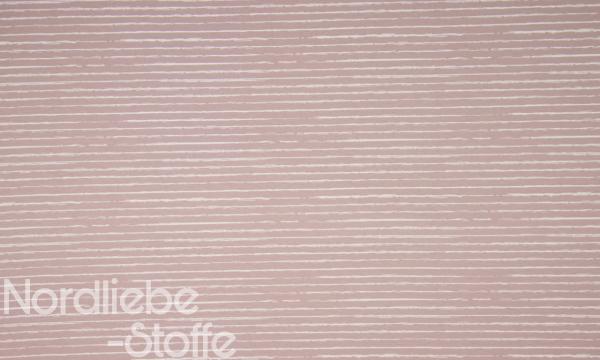 Jersey ~ Stripe Rosa Weiß
