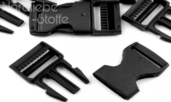 Steckschnalle schwarz 25mm