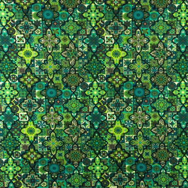 Jersey ~ Ornament Fliesen Grün 0,3m LETZTES Stück