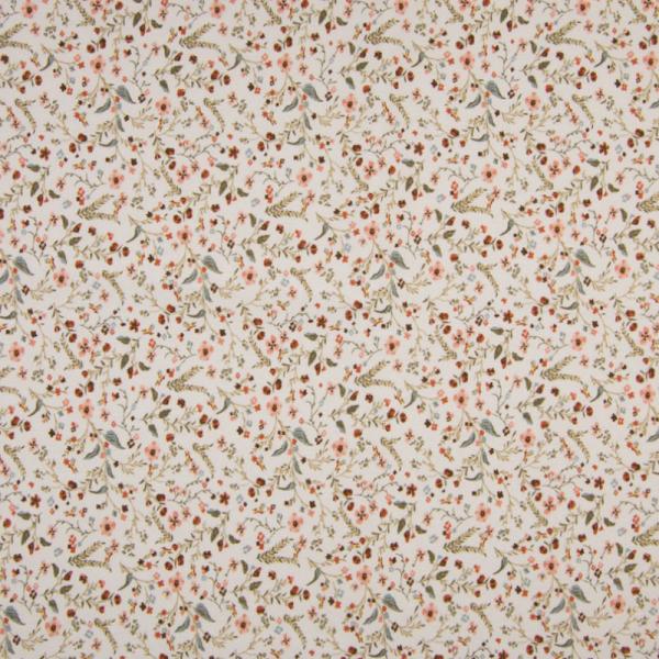 ORGANIC Jersey ~ Blätter - kleine Blumenwiese Khaki Terra