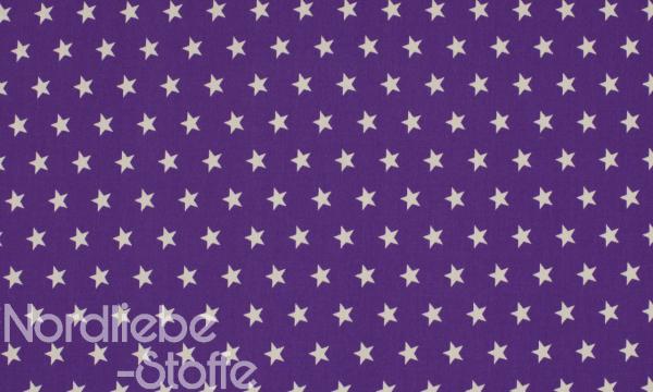 Baumwolle ~ Sterne auf Lila