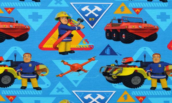 Lizenz Jersey ~ Feuerwehrmann Sam Blau 0,44 m LETZTES Stück