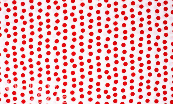Baumwolle Mischgewebe ~ Rote Punkte auf Weiß