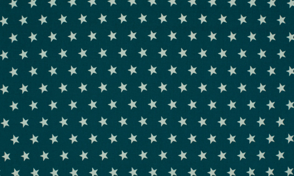 Baumwolle ~ Sterne auf Petrol