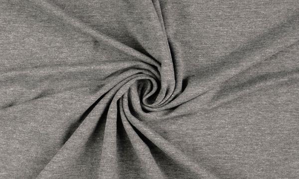 Jersey ~ MELANGE Midle Grey 0,56 m LETZTES Stück