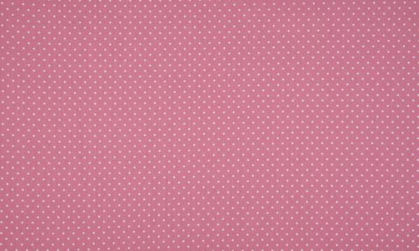 Baumwolle ~ kleine Punkte Altrosa Dunkel Weiß