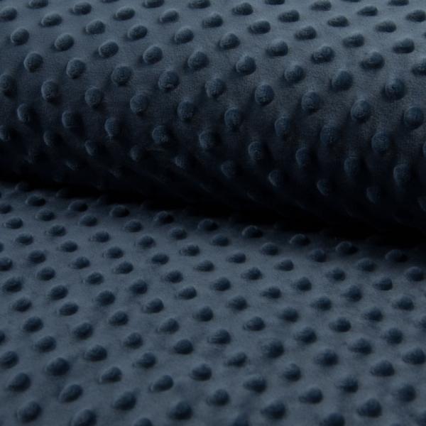 Minky Wellnessfleece ~ Noppen UNI Jeansblau