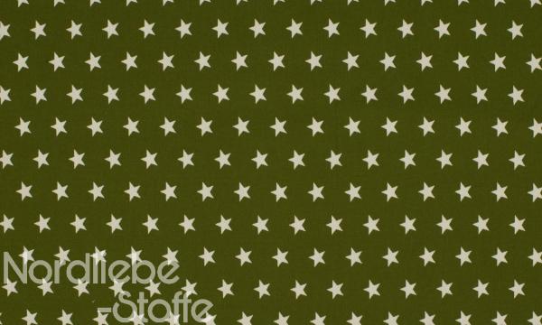Baumwolle ~ Sterne auf Khaki