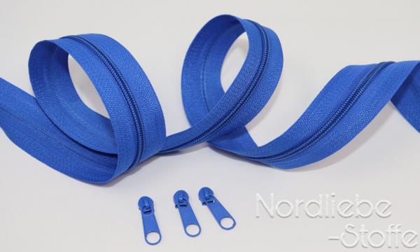 Endlosreißverschluss 3mm royalblau incl. Zipper