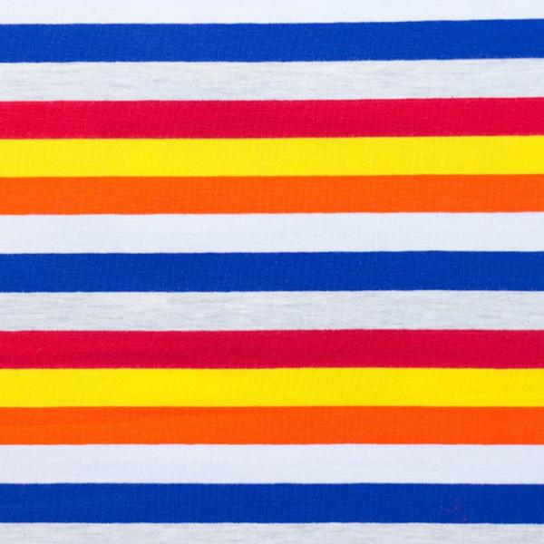 Jersey ~ breite Streifen Royalblau Grau