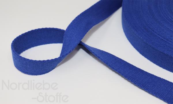 Baumwoll Gurtband 25mm kobaltblau