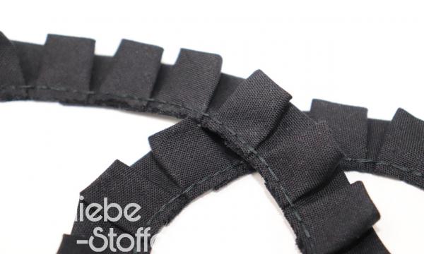 Rüschenband 18mm schwarz