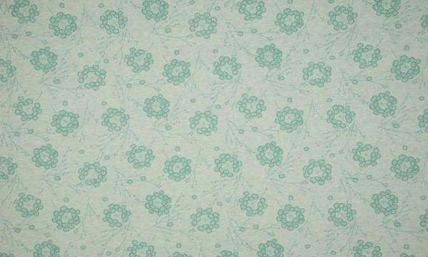 ORGANIC Jersey ~ große Pusteblumen Grün Melange