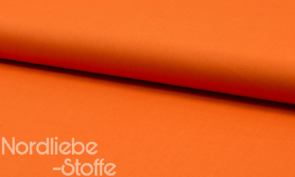 Baumwolle ~ UNI Orange