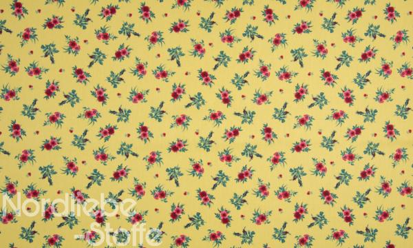 Baumwolle ~ Blüten Gelb