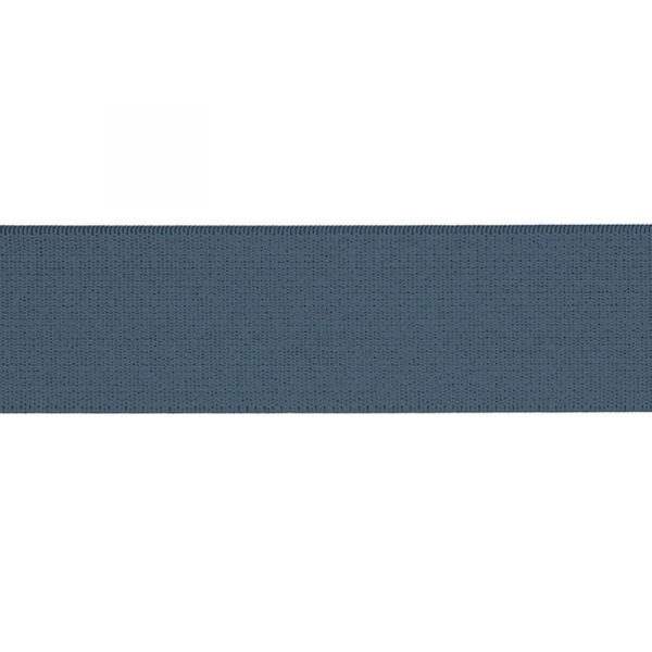 Gummiband elastisch 40 mm ~ UNI Denim