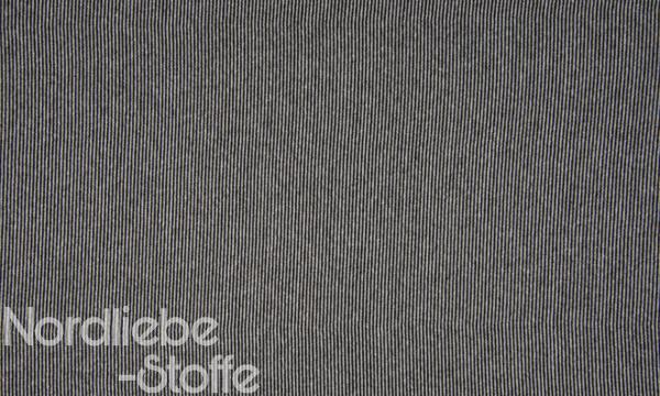 Ringel Bündchen ~ zart Schwarz Weiß 2mm
