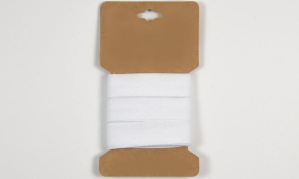 3 m Baumwoll Schrägband Weiß 20mm