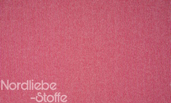 Ringel Bündchen ~ zart Rot Weiß 2mm