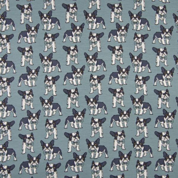 Jersey ~ Französische Bulldogge auf Jeansblau