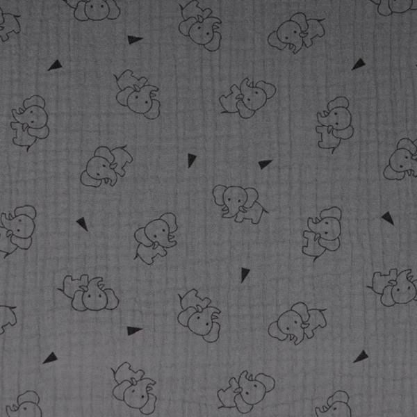 Musselin ~ TRIPLE Elefant Dunkelgrau