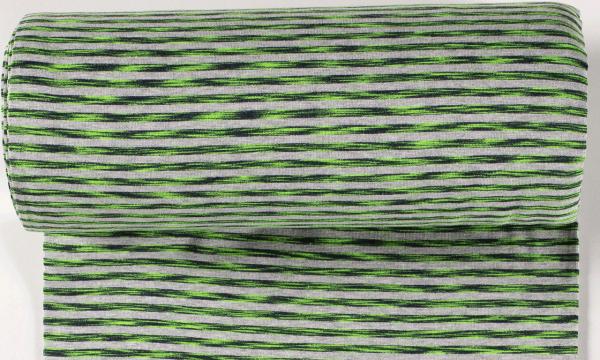 Ringel Bündchen ~ Melange Grün neon