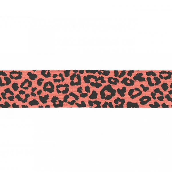 3 Meter Jersey Schrägband 20 mm Leopard Peach
