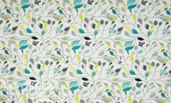 ORGANIC Jersey ~ Blätter Weiß