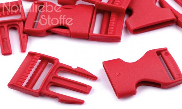 Steckschnalle rot 25mm