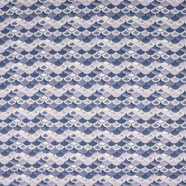 SWAFING Nautical Baby Jersey ~ Schuppen Blau Offwhite