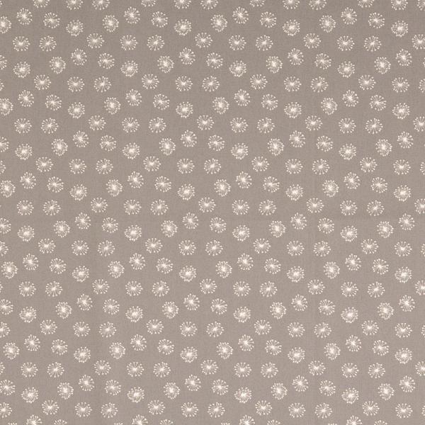 Baumwolle ~ Pusteblumen Grau Weiß 1,10 m LETZTES Stück